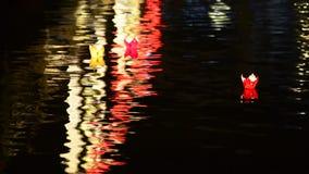 Lantern in River stock video