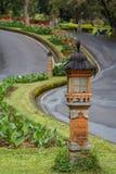 Lantern on the road leading to Bali Botanical Garden Stock Images