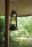 Lantern in safari camp Stock Photography