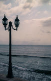Lantern sea. A lone lantern on the seashore Royalty Free Stock Image