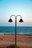 Lantern at the sea side Royalty Free Stock Images