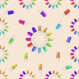 Lantern seamless pattern for your design, vector illustration Stock Photography