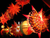 Lantern Shop. A beautiful display of skylanterns in a streetside shop on the occasion of Diwali in India Royalty Free Stock Photo