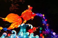 Lantern show in chengdu,china Stock Photo