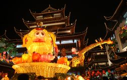 Lantern Show in Shanghai Royalty Free Stock Photo