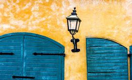 Lantern and shutters royalty free stock photography