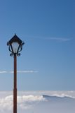 Lantern in the sky I. Street lamp above the clouds Royalty Free Stock Photo