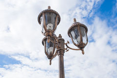 Lantern. Three brown lantern with blue sky Royalty Free Stock Photos