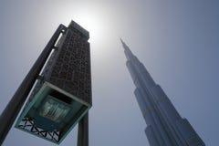 Lantern and skyscraper in Dubai Stock Images