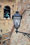 Lantern in small Italian village Royalty Free Stock Images