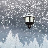 Lantern snow Stock Images