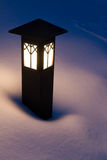 Lantern in the Snow. At night in Sequoia National Park, California Stock Photos