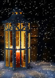 Lantern in snow flurry Stock Photography