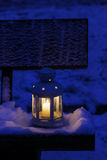 Lantern on snow Stock Images