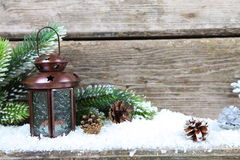 Lantern in the snow Royalty Free Stock Photography
