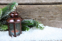 Lantern in the snow Royalty Free Stock Image