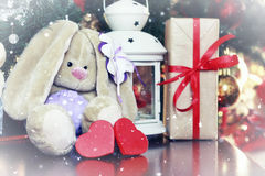 Lantern soft toy new year Stock Images