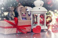 Lantern soft toy new year Royalty Free Stock Photo