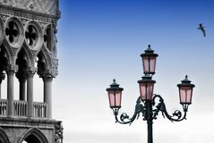 Lantern on St. Mark's Square in Venice Stock Photo