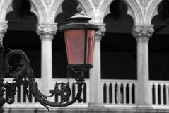 Lantern on St. Mark's Square in Venice Royalty Free Stock Photography