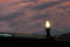 A lantern street light on twilight evening background Royalty Free Stock Photography