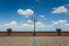 Lantern on the street of old pavement Royalty Free Stock Photos