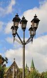 Lantern Street. Pillar of lamps for street lighting stock photos