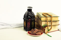 Lantern style Arab or Morocco with date palm Stock Photo
