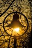 Lantern with sunset Royalty Free Stock Photos