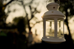 Lantern at sunset Royalty Free Stock Photo