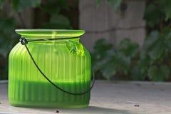 Lantern. A lantern on a table Stock Photo