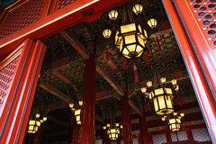 Lantern on Tiananmen Gatetower Stock Photography