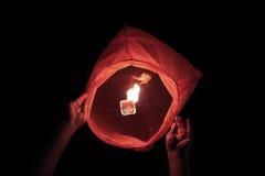 Lantern about to take off Royalty Free Stock Image