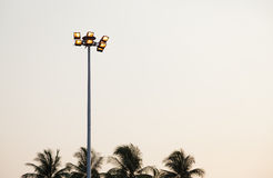 Lantern on top of poles Royalty Free Stock Images