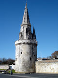 Lantern Tower La Rochelle / France. Lantern Tower (La Rochelle Harbour) which served as a lighthouse, seamark and prison : 13th - 15th century Royalty Free Stock Images