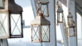 Lantern vintage. Lantern on the interiors site stock image