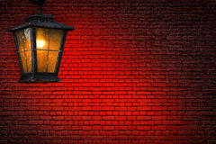 Lantern and wall abstract Royalty Free Stock Photography