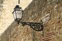 The lantern on the wall of the fortress Stock Photo