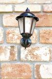 Lantern, wall, old brick Stock Image