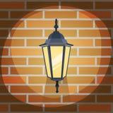 Lantern On The Wall Stock Photo