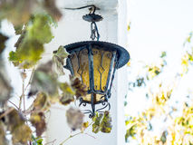 Lantern on the wall on a village house Royalty Free Stock Photos