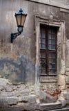 Lantern and a window Royalty Free Stock Photo