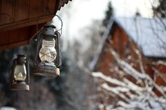 Lantern winter Stock Photo