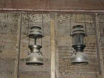Lantern. On a wooden background Stock Photo