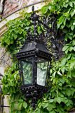 Lantern of wrought iron Stock Images
