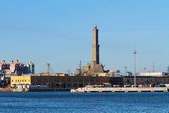 Lanterna -灯塔在Genova, 图库摄影