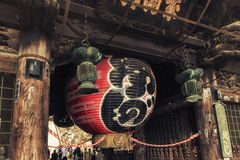 Lanterna al tempio di Naritasan Shinshoji a Narita, Giappone immagini stock
