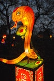 Lanterna animale dello zodiaco del serpente cinese Fotografia Stock Libera da Diritti