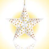Lanterna branca de Glwing em um fundo branco Fotos de Stock Royalty Free