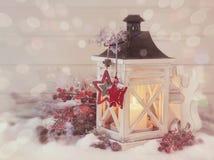 Lanterna bruciante Fotografia Stock